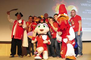 mascotte premio varese sport yamy