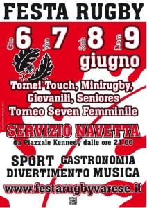 Rugby Varese locandina 2014