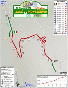 Cartina Slalom Luino-Montegrino