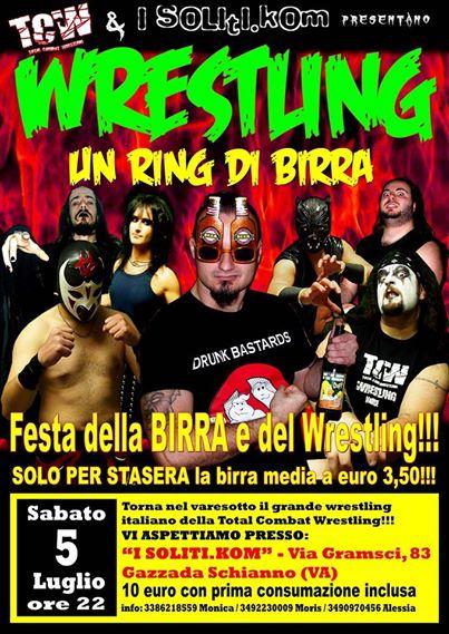 total combact wrestling 14 luglio gazzada locandina