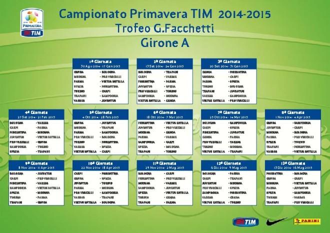 Calendario Primavera TIM Girone A