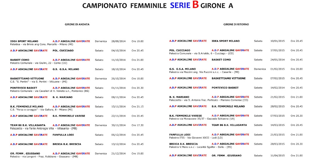 calendario 1415 gavirate basket femminile