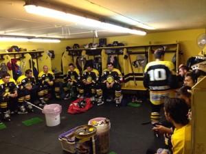 spogliatoio Varese hockey