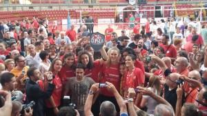 Raduno UYBA 2015-16 con tifosi