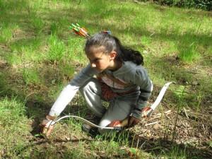 arcieri della grande quercia tiro con l'arco bambina