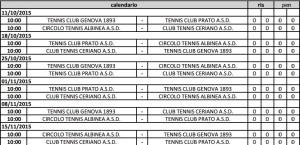calendario ceriano tennis A1 femminile 2015