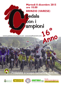 Locandina Pedala con i Campioni 2015