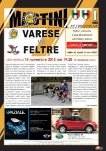 Varese-Feltre hockey volantino