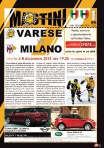 Varese Milano hockey copertina