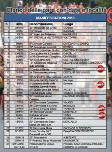 calendario piede d'oro 2016