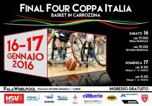 locandina final four coppa italia basket carrozzina 2016