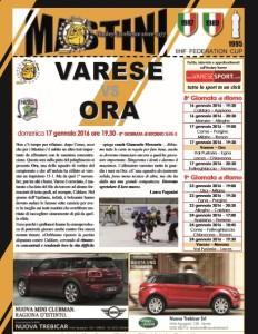 Varese hockey - ora copertina