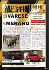 Varese-Merano prima pagina