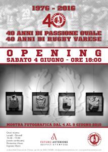 40 Anni Rugby Varese locandina mostra
