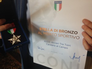 Consegna benemerenze Coni 2014 stella di bronzo