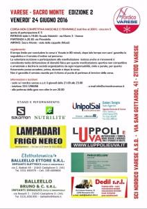 locandina varese-sacro monte corsa in salita 2016