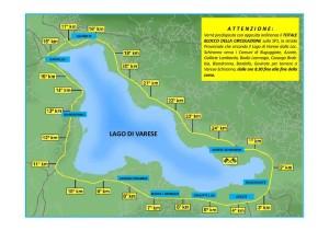 percorso giro del lago di varese 2016
