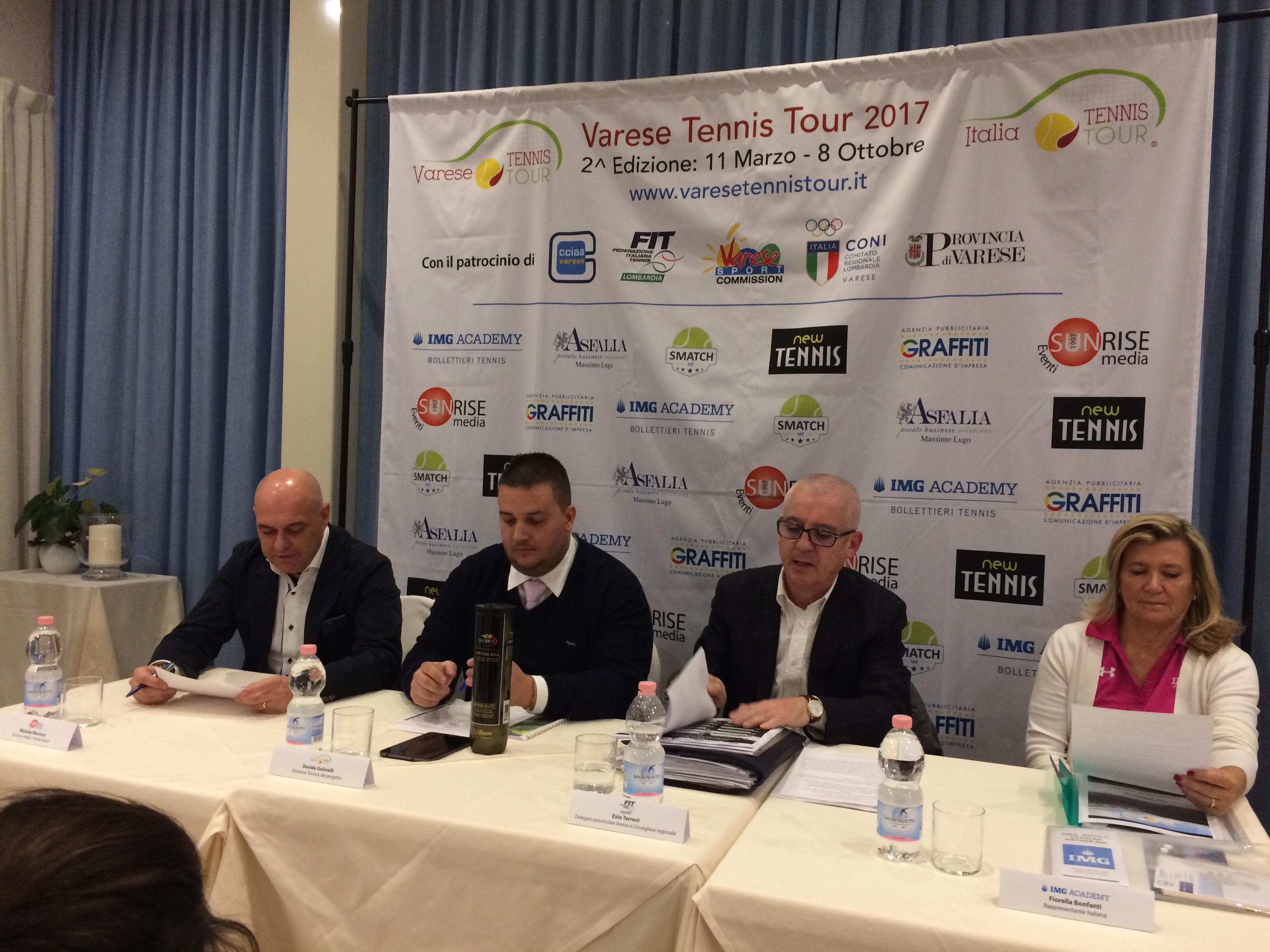 Parte il Varese Tennis Tour 2017