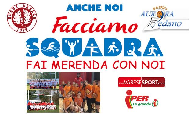 Facciamo squadra – Sabato all'Iper col Rugby Varese e l'Aurora Vedano