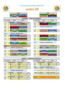 programma torneo under 9 marco fiori 2017