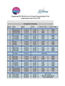 calendario mondiali para ice hockey