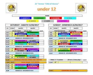 città di varese torneo 2017 calendario