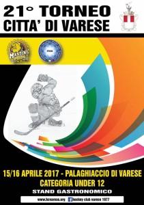 locandina torneo città di varese hockey 2017