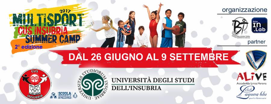 Il Cus Insubria Multisport Summer Camp torna con tante novità