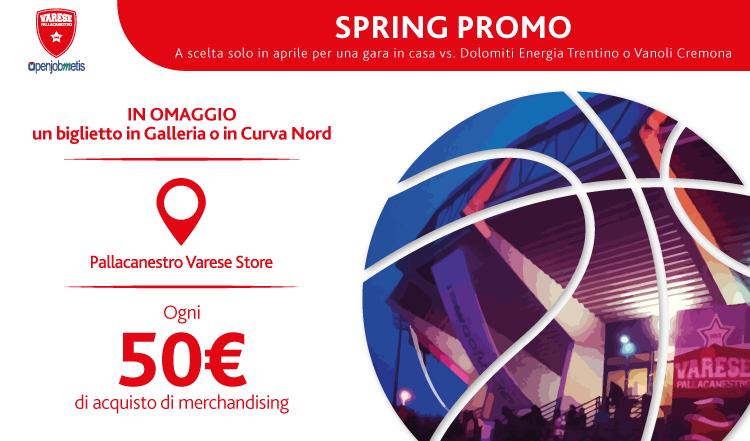 #SpringPromo: spesa al Pallacanestro Varese Store e biglietto omaggio