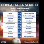 Tabellone Coppa Italia D