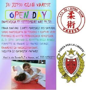 ju jitsu locandina open day