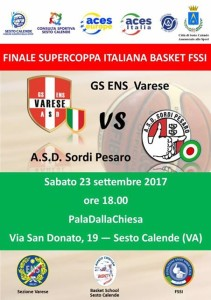 SuperCoppa GS ENS VARESE vs ASD Sordi Pesaro locandina