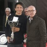 Andrea Bogni - campione assoluto Varese Tennis Tour 2017 - nella foto con Ezio Terreni Delegato FIT