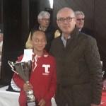 Samira De Stefano - campionessa assoluta Varese Tennis Tour 2017 - nella foto con Ezio Terreni Delegato FIT