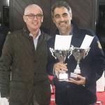 Stefano Veronesi - 2^ coppia classificata doppio maschile_ nella foto con Ezio Terreni Delegato FIT