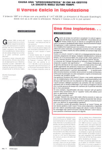 Varese Sport gennaio 1988