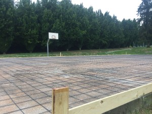 lavori campo basket san fermo
