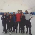 ice emotion coppie di danza ed allenatori insieme ad Anna Cappellini e Luca Lanotte