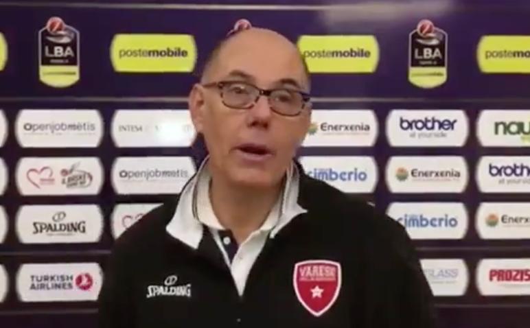 """Varese pronta per Brescia. Caja: """"Partita stimolante, palazzetto caldo"""""""