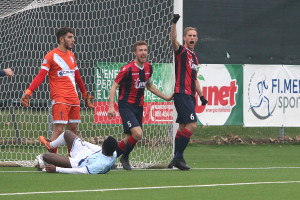 Caronnese-Legnago 03 primo gol Pavan
