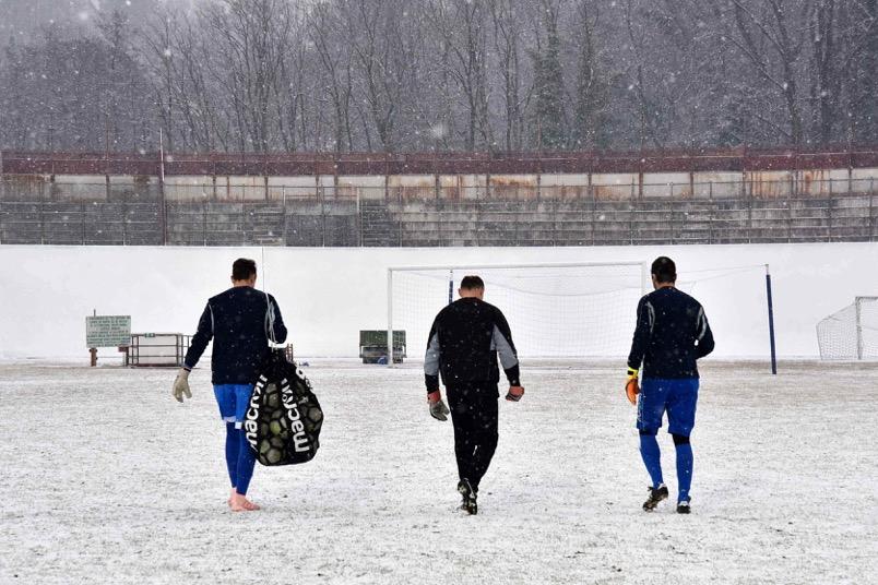 Varese-Varesina rinviata per neve – FOTO