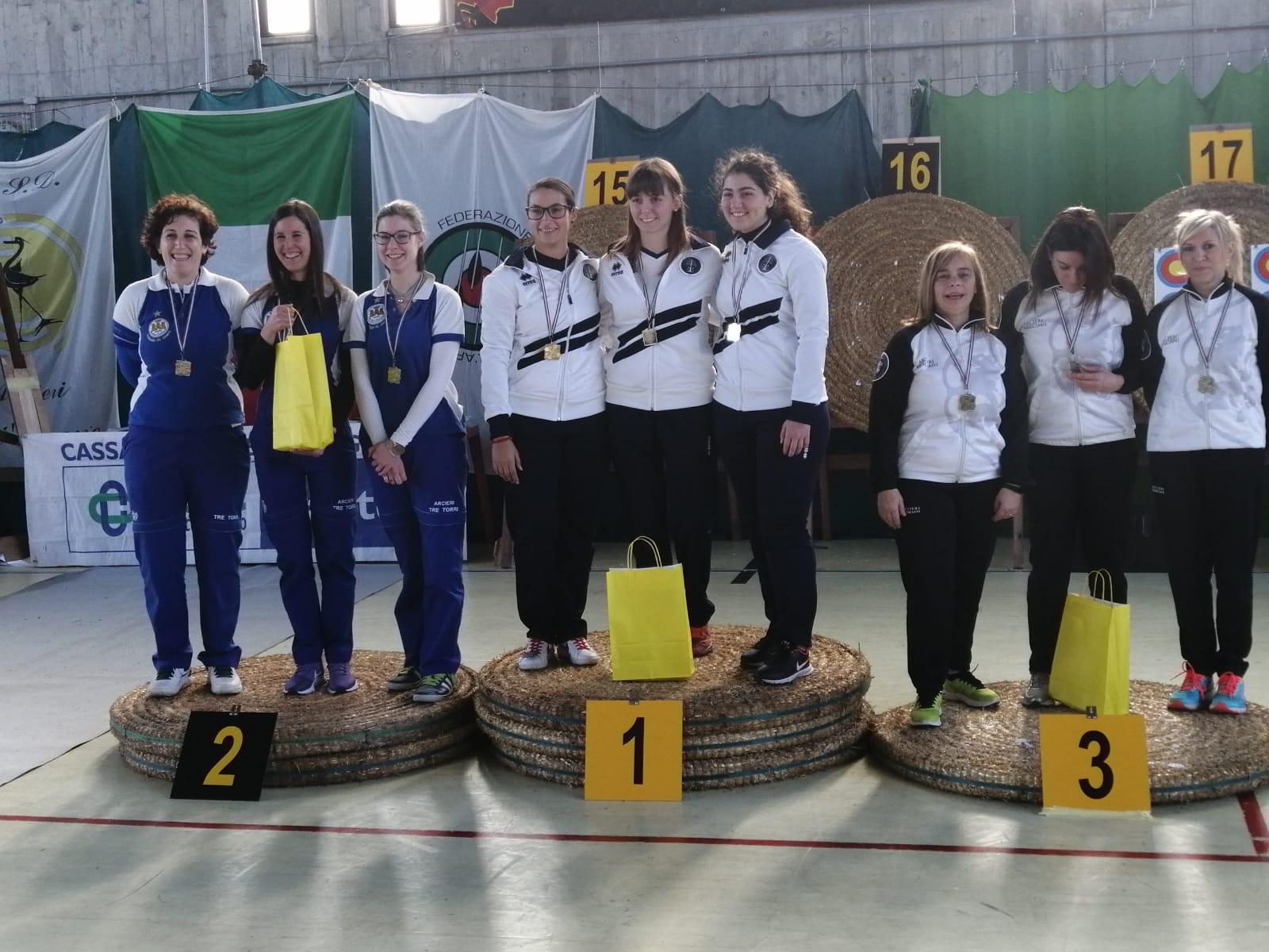 Grandi risultati al femminile per gli Arcieri Tre Torri ai Regionali Olimpico