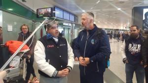 Coach Anderson e Marco paganucci blue storms