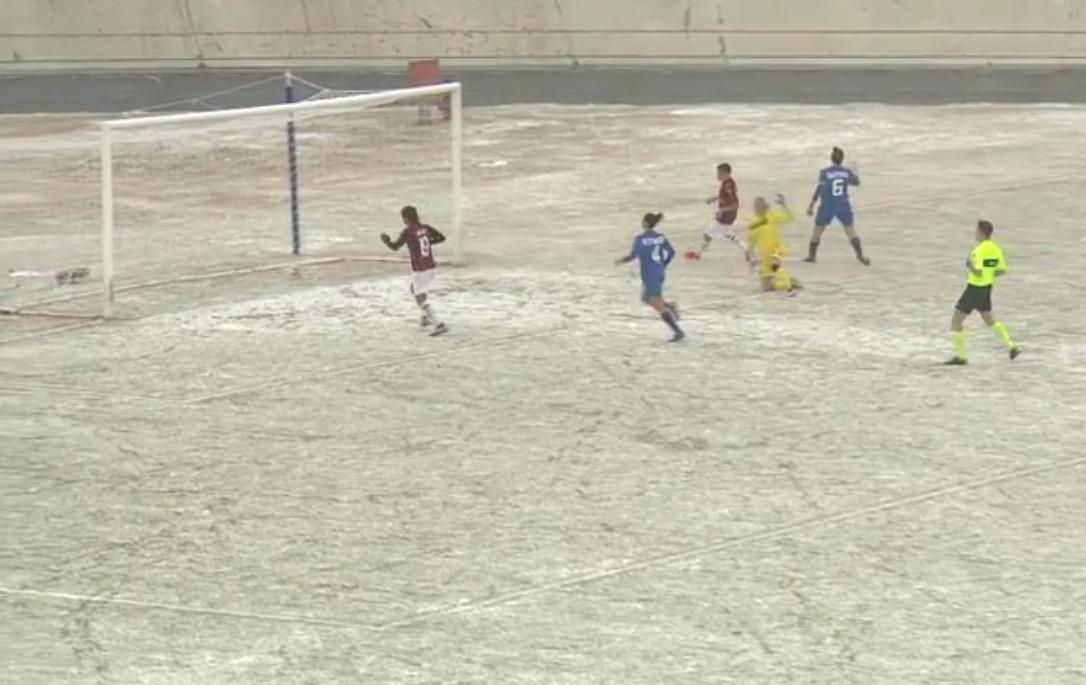 """La neve non ferma il Milan: 5-2 al Sassuolo al """"Franco Ossola"""""""
