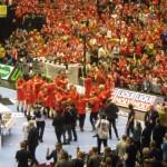 Mondiali Pallamano palazzetto Danimarca festa
