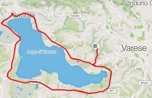100 chilometri attorno al lago cartina