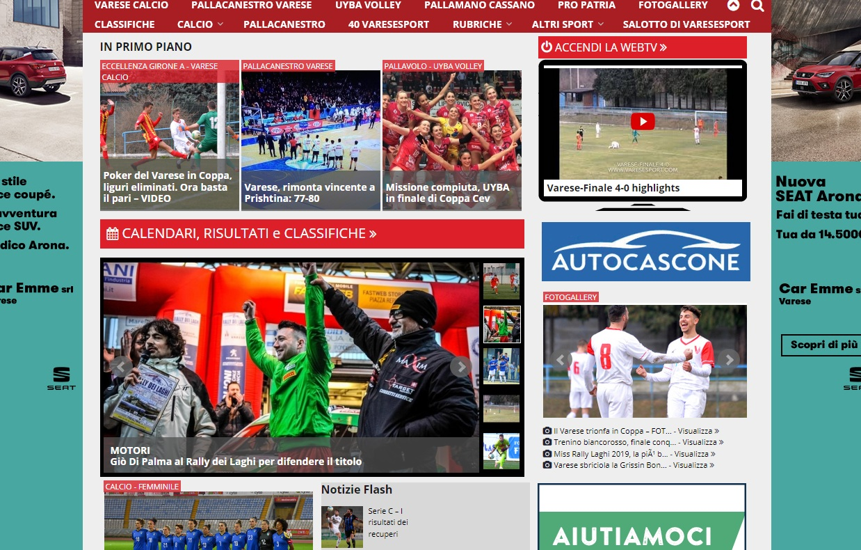 I più letti della settimana: cessione Varese, ricordi di hockey, imprese Uyba e PallVa
