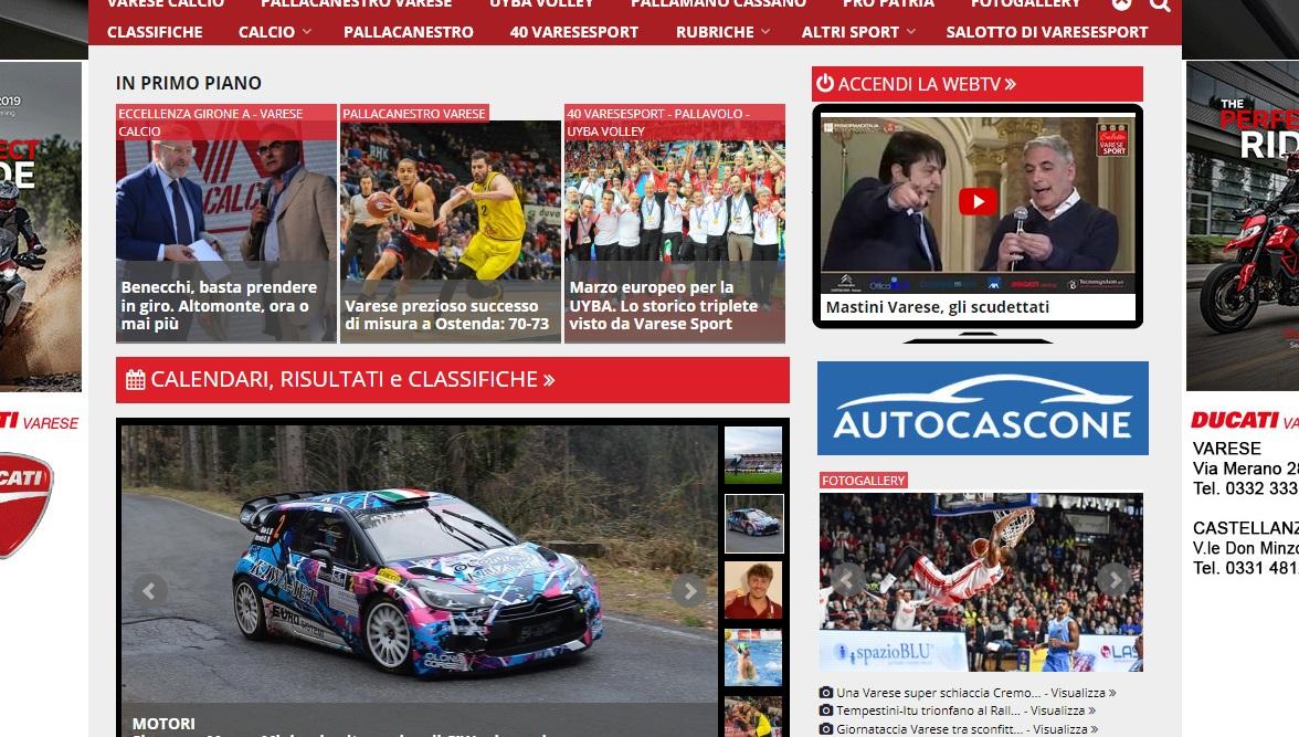 I più letti della settimana: i successi di UYBA e Pallacanestro Varese, il rally e il dramma Varese Calcio