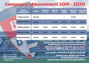 pro patria abbonamenti prezzi 2019 2020