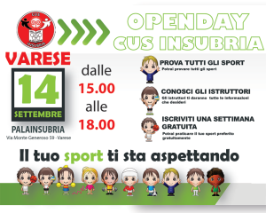 open day cus insubria